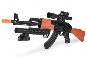 Zhorya Автомат на батарейках AK-47 (c присосками)