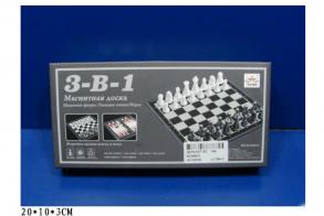 HC-Toys Шахматы, шашки, нарды 3 в 1 (магнитное основание)