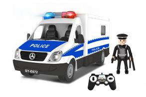 Double E Машина р:у 1:18 Полиция Фургон (с мигалками)