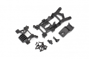 TRAXXAS запчасти Body mounts, front & rear: 3x12mm CS (4)