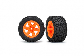 "TRAXXAS запчасти Tires & wheels, assembled, glued (2.8"") (RXT orange wheels, Talon Extreme tires"