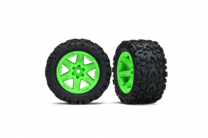 "TRAXXAS запчасти Tires & wheels, assembled, glued (2.8"") (RXT green wheels, Talon Extreme tires"
