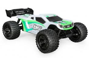 Losi Трагги Losi 1:10 TENACITY-T Brushless 4WD (AVC), электро, RTR (бело-зеленый)