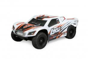 Losi Радиоуправляемый шорт-корс трак Losi 1:10 TENACITY 4WD Brushless (AVC), RTR (белый:оранжевый)