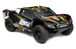 Losi Радиоуправляемый шорт-корс трак Losi 1:10 TENACITY 4WD Brushless (AVC), RTR (черный:желтый)
