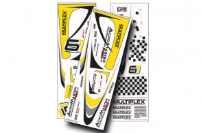 Multiplex запчасти Decal Acromaster Pro, yellow