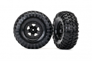 TRAXXAS запчасти Tires and wheels, assembled, glued (TRX-4® Sport wheels, Canyon Trail 2.2 tires)