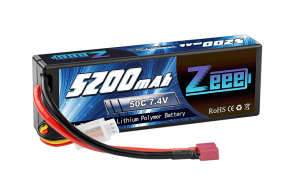 Zeee Power Аккумулятор Zeee Power 2s 7.4v 5200mah 50c + TRX Plug