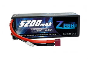 Zeee Power Аккумулятор Zeee Power 4s 14.8v 5200mah 50c + TRX Plug