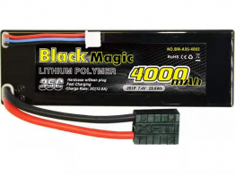 Black Magic 35C/4000mah/7.4V,2S1P  (hardcase w/Traxxas Plug)