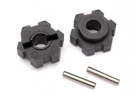 TRAXXAS запчасти Wheel hubs, hex (2)/ 2.5x12 pins (2)