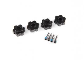 TRAXXAS запчасти Wheel hubs, hex, aluminum (black-anodized) (4)/ 4x13mm screw pins (4)