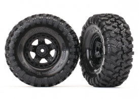 "TRAXXAS запчасти  Tires and wheels, assembled, glued (TRX-4® Sport 1.9"" wheels, Canyon Trail 4.6x1.9"" tires) (2)"