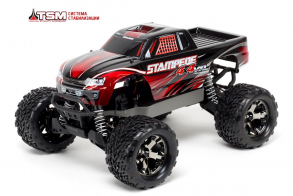 TRAXXAS Stampede 4x4 VXL Brushless 1:10 RTR Fast Charger TSM Red