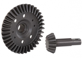 TRAXXAS запчасти  Ring gear, differential/ pinion gear, differential (machined, spiral cut) (front)