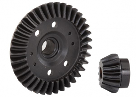 TRAXXAS запчасти Ring gear, differential/ pinion gear, differential (machined, spiral cut) (rear)