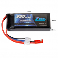 Zeee Power Аккумулятор Zeee Power 3s 11.1v 900mah 45c SOFT