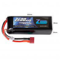 Zeee Power Аккумулятор Zeee Power 4s 14.8v 2600mah 45c SOFT