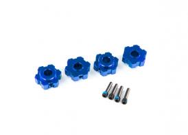 TRAXXAS запчасти Wheel hubs, hex, aluminum (blue-anodized) (4)/ 4x13mm screw pins (4)