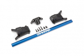 TRAXXAS запчасти Chassis brace kit, blue (fits Rustler® 4X4 or Slash 4X4 models equipped with Low-CG chassis)