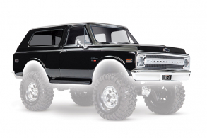 TRAXXAS запчасти Body, Chevrolet Blazer (1969), complete (black) (includes grill, side mirrors, door handles, windshield wipers, front & rear bumpers, decals)