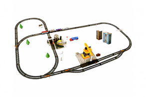 HC-Toys Железная дорога 670см водонапорная станция