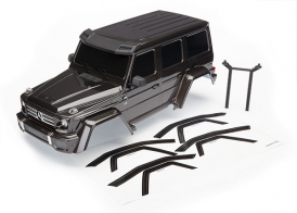TRAXXAS запчасти Body, Mercedes-Benz® G 500® 4x4², complete (black) (includes rear body post, grille, side mirrors, door handles, & windshield wipers)