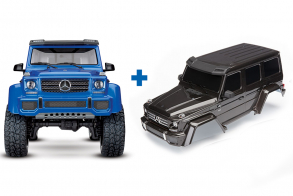 TRAXXAS TRX-4 Mercedes G 500 1:10 4WD Scale and Trail Crawler Blue + Body, Mercedes-Benz® G 500® 4x4², complete (black)