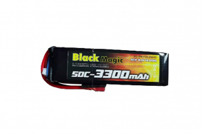 Black Magic 50C/3300mAh/4S1P/14.8V w/Deans plug