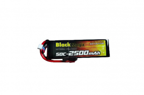 Black Magic 50C/2500mAh/3S1P/11.1V w/Deans plug